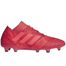Adidas Nemeziz 17.1 FG Soccer Cleats (Real Coral/Red Zest/Core Black)