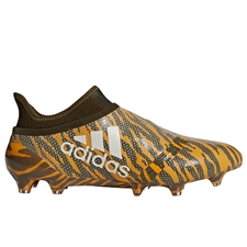 Adidas X 17+ FG Soccer Cleats (Bright Orange/Talc/Trace Olive)