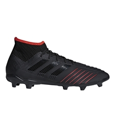 Adidas Predator 19.2 FG Soccer Cleats (Core Black/Active Red)