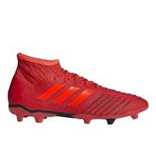 Adidas Predator 19.2 FG Soccer Cleats (Active Red/Solar Red/Core Black)