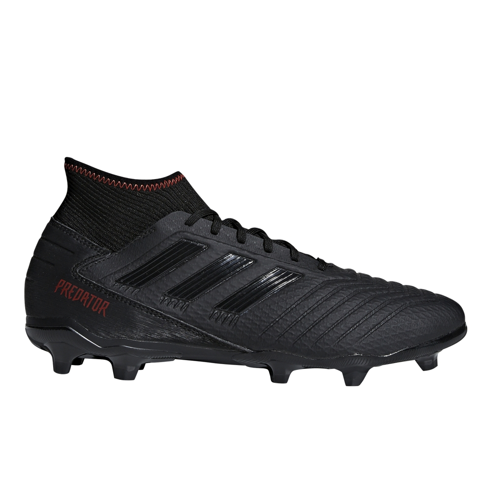 f8df30bfd Adidas Predator 19.3 FG Soccer Cleats (Core Black Active Red ...