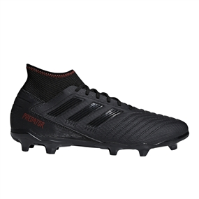 Adidas Predator 19.3 FG Soccer Cleats (Core Black/Active Red)