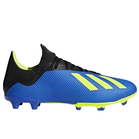 Adidas X 18.3 FG Soccer Cleats (Football Blue/Solar Yellow/Black) | Adidas DA9335