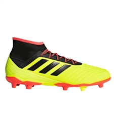 Adidas Predator 18.2 FG Soccer Cleats (Solar Yellow/Core Black/Solar Red)