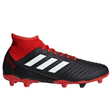 Adidas Predator 18.3 FG Soccer Cleats (Black/White/Red)