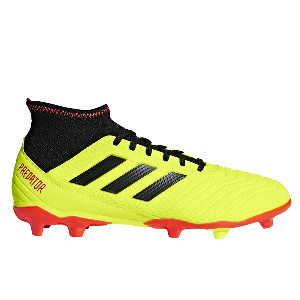 reputable site 4f18e a3e0b Adidas Predator 18.3 FG Soccer Cleats (Solar Yellow/Core Black/Solar Red)
