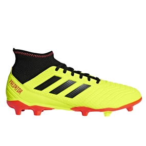 Adidas Predator 18.3 FG Soccer Cleats (Solar Yellow/Core Black/Solar Red)