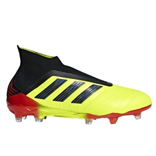 Adidas Predator 18+ FG Soccer Cleats (Solar Yellow/Core Black/Solar Red)