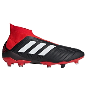 Adidas Predator 18+ FG Soccer Cleats (Black/White/Red)