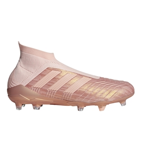 Adidas Predator 18+ FG Soccer Cleats (Clear Orange/Trace Pink)