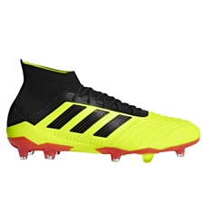 Adidas Predator 18.1 FG Soccer Cleats (Solar Yellow/Core Black/Solar Red)