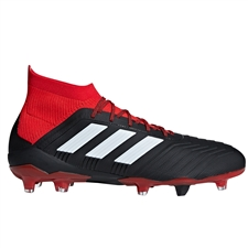 Adidas Predator 18.1 FG Soccer Cleats (Black/White/Red)