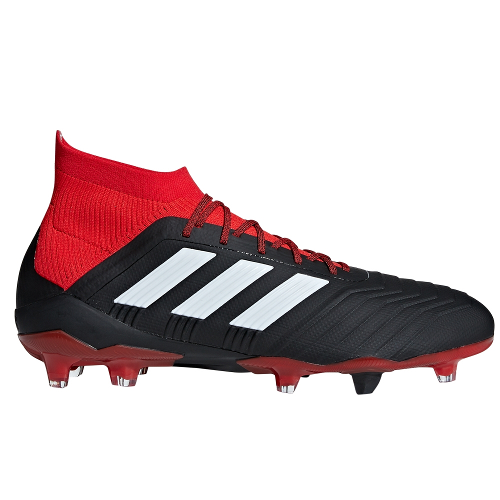 a2cbd1c65cee Adidas Predator 18.1 FG Soccer Cleats (Black White Red)