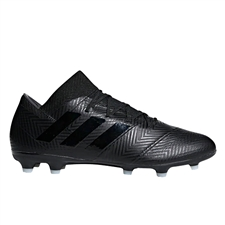 Adidas Nemeziz 18.2 FG Soccer Cleats (Black/White)