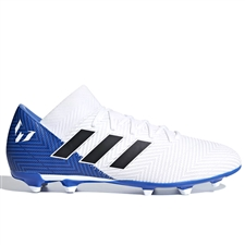 Adidas Nemeziz Messi 18.3 FG Soccer Cleats (White/Black/Football Blue) | Adidas DB2111