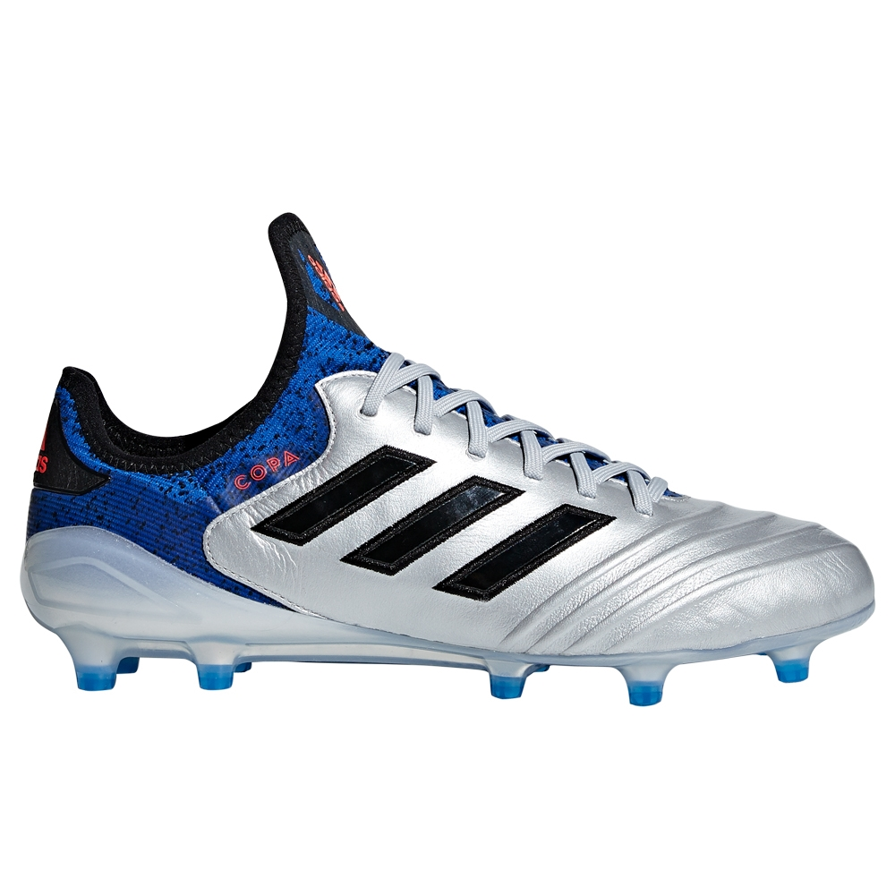 Adidas Copa 18.1 FG Soccer Cleats (Silver Metallic/Black/Football Blue)