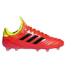 Adidas Copa 18.1 FG Soccer Cleats (Solar Red/Core Black/Solar Yellow)