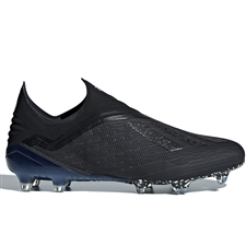 Adidas X 18+ FG Soccer Cleats (Black/White)