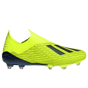 Adidas X 18+ FG Soccer Cleats (Solar Yellow/Black/White)