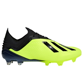 Adidas X 18.1 FG Soccer Cleats (Solar Yellow/Black/White)