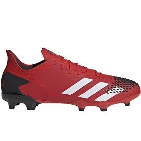 Adidas Predator 20.2 FG Soccer Cleats (Active Red/White/Core Black)