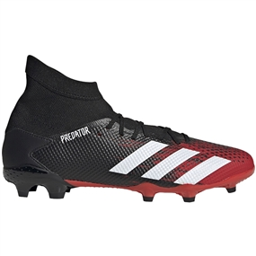 Adidas Predator 20.3 FG Soccer Cleats (Core Black/White/Active Red)