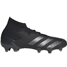 Adidas Predator Mutator 20.1 FG Soccer Cleats (Core Black/Silver Metallic)