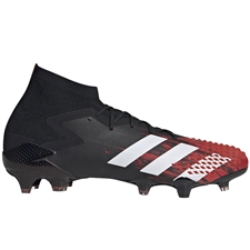 Adidas Predator Mutator 20.1 FG Soccer Cleats (Core Black/White/Active Red)