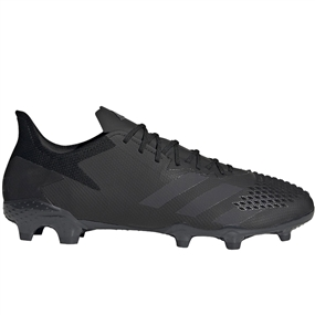 Adidas Predator 20.2 FG Soccer Cleats (Core Black/Dark Grey Heather/Solid Grey)