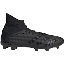 Adidas Predator 20.3 FG Soccer Cleats (Core Black/Dark Grey Heather/Solid Grey)