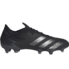 Adidas Predator Mutator 20.1 Low Cut FG Soccer Cleats (Core Black/Silver Metallic)
