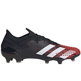 Adidas Predator Mutator 20.1 Low Cut FG Soccer Cleats (Core Black/White/Active Red)