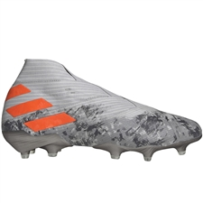 Adidas Nemeziz 19+ FG Soccer Cleats (Grey Two/Solar Orange/Chalk White)