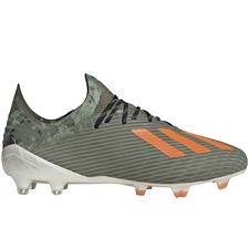Adidas X 19.1 FG Soccer Cleats (Legacy Green/Solar Orange/Chalk White)