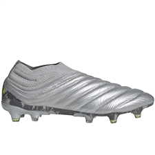 Adidas Copa 20+ FG Soccer Cleats (Silver Metallic/Solar Yellow)