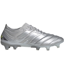 Adidas Copa 20.1 FG Soccer Cleats (Silver Metallic/Solar Yellow)