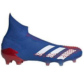 Adidas Predator Mutator 20+ FG Soccer Cleats (Team Royal Blue/White/Active Red)