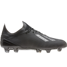 Adidas X 19.1 FG Soccer Cleats (Core Black/Silver Metallic)