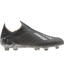 Adidas X 19+ FG Soccer Cleats (Core Black/Silver Metallic)