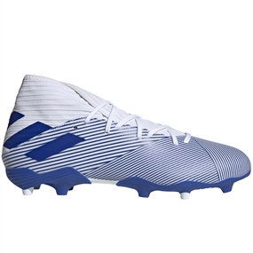 Adidas Nemeziz 19.3 FG Soccer Cleats (White/Team Royal Blue)