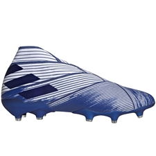 Adidas Nemeziz 19+ FG Soccer Cleats (White/Royal Blue)
