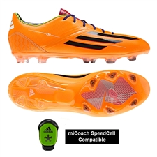 Adidas F30 TRX FG Soccer Cleats (Solar Zest/Black/Blast Purple)