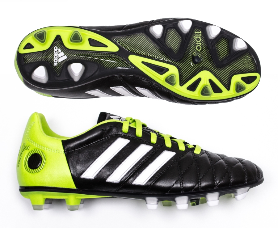 official photos 461a2 586ff Adidas adiPure 11Pro TRX FG Soccer Cleats (BlackRunning WhiteSolar Slime)  ...