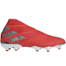 Adidas Nemeziz 19+ FG Soccer Cleats (Active Red/Silver Metallic/Solar Red) | Adidas F34404