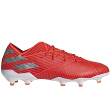 Adidas Nemeziz 19.1 FG Soccer Cleats (Active Red/Silver Metallic/Solar Red) | Adidas F34408