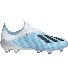 Adidas X 19.1 FG Soccer Cleats (Bright Cyan/Core Black/Shock Pink)