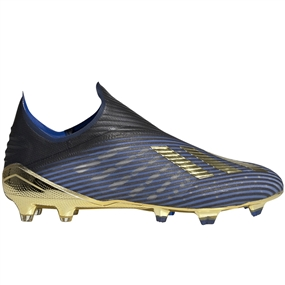 Adidas X 19+ FG Soccer Cleats (Core Black/Gold Metallic/Football Blue)