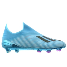 Adidas X 19+ FG Soccer Cleats (Bright Cyan/Core Black/Shock Pink)