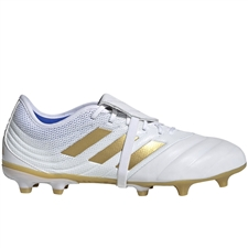 Adidas Copa Gloro 19.2 FG Soccer Cleats (White/Gold Metallic/Football Blue)