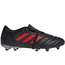 Adidas Copa Gloro 19.2 FG Soccer Cleats (Core Black/Hi-Res Red/Silver Metallic)